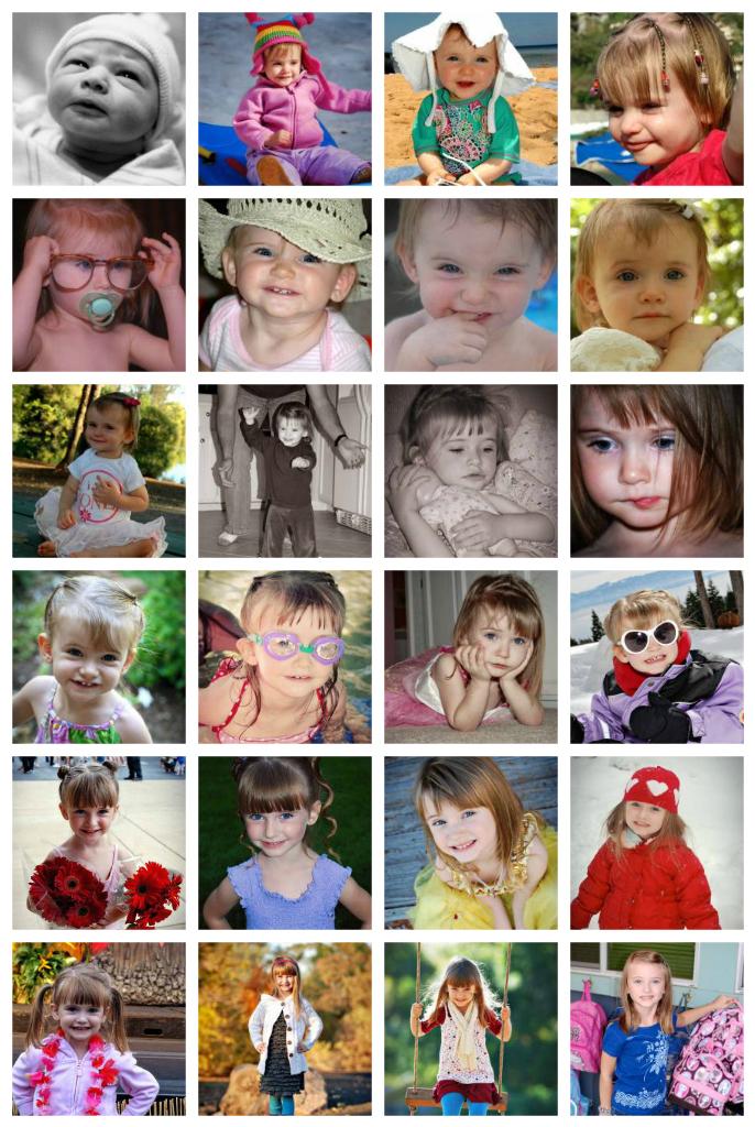 Halle Birthday Collage